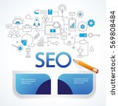 concept of seo technology  web... | Shutterstock .eps vector #569808484