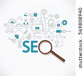 concept of seo technology  web... | Shutterstock .eps vector #569808940