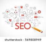 concept of seo technology  web... | Shutterstock .eps vector #569808949