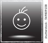 face sign icon  vector... | Shutterstock .eps vector #569809108