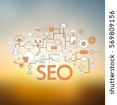 concept of seo technology  web... | Shutterstock .eps vector #569809156