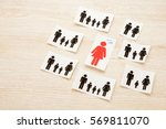 impatience of unmarried woman | Shutterstock . vector #569811070