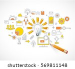 business concept. idea  loading.... | Shutterstock .eps vector #569811148