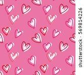 hearts seamless pattern.vector... | Shutterstock .eps vector #569814226