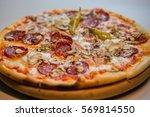 delicious fresh made italian... | Shutterstock . vector #569814550