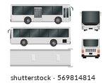 city bus template. passenger... | Shutterstock .eps vector #569814814