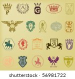 heraldic and royal symbols.... | Shutterstock .eps vector #56981722