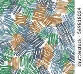 seamless pattern. casually... | Shutterstock .eps vector #569818024