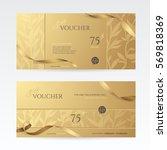 set of stylish gift vouchers... | Shutterstock .eps vector #569818369