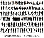 vector  isolated  silhouette of ... | Shutterstock .eps vector #569818573