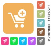 add item to cart flat icons on... | Shutterstock .eps vector #569847244