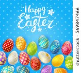 Easter Greeting Card With Colo...