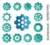 simple gear or cog wheel vector ... | Shutterstock .eps vector #569847490