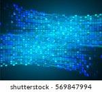 future technology  blue cyber... | Shutterstock .eps vector #569847994