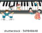 children music school... | Shutterstock . vector #569848648