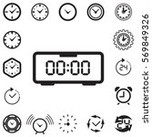 clock icon isolated. time logo  ... | Shutterstock .eps vector #569849326