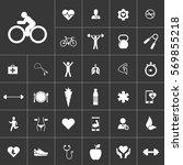 cyclist. health icon set on...