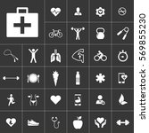 first aid. health icon set on...