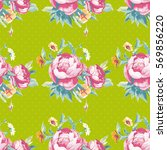 seamless floral pattern with... | Shutterstock .eps vector #569856220