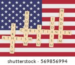 religion diversity in the usa... | Shutterstock . vector #569856994