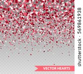 happy valentine's hearts... | Shutterstock .eps vector #569861938