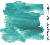 abstract watercolor art hand... | Shutterstock . vector #569863360