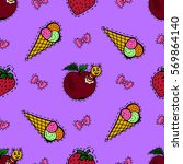 kids  cartoon seamless pattern. ... | Shutterstock .eps vector #569864140