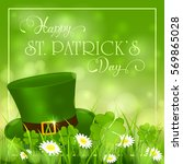 patricks day background with...   Shutterstock . vector #569865028