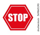 stop danger precaution sign... | Shutterstock .eps vector #569865190