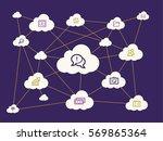 cloud computing concept | Shutterstock .eps vector #569865364