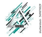 background flat  design  for... | Shutterstock .eps vector #569870029