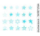 set of stars. | Shutterstock .eps vector #569871964