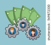 character gears business money... | Shutterstock .eps vector #569872330