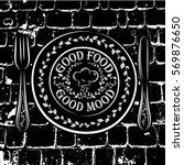 black and white vector... | Shutterstock .eps vector #569876650