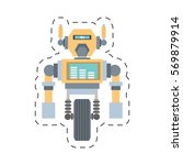 robotic mechanical engineering... | Shutterstock .eps vector #569879914