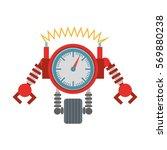 clock robotic machine pincers...   Shutterstock .eps vector #569880238