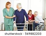 home nursing care for senior... | Shutterstock . vector #569882203