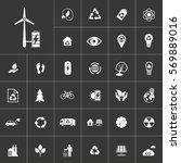 alternative energy. ecology and ... | Shutterstock .eps vector #569889016