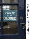 sorry we are closed door sign   Shutterstock . vector #569889790