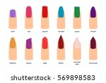 nail shapes  vector illustration | Shutterstock .eps vector #569898583