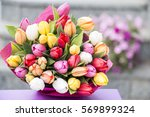 Colorful Bouquet Of White  Pin...