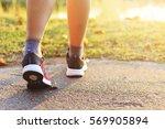 closeup women running at...   Shutterstock . vector #569905894