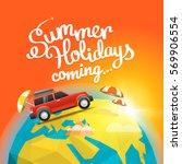 summer travel vector... | Shutterstock .eps vector #569906554