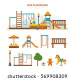 concept illustration   children'... | Shutterstock .eps vector #569908309