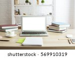 front view of creative designer ... | Shutterstock . vector #569910319