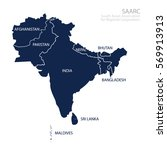 Map Of South Asian Association...