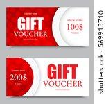 gift company voucher template... | Shutterstock .eps vector #569915710