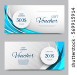 gift company voucher template... | Shutterstock .eps vector #569915914