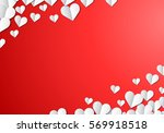 valentines day card with... | Shutterstock .eps vector #569918518