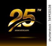 25 years golden anniversary... | Shutterstock .eps vector #569920138